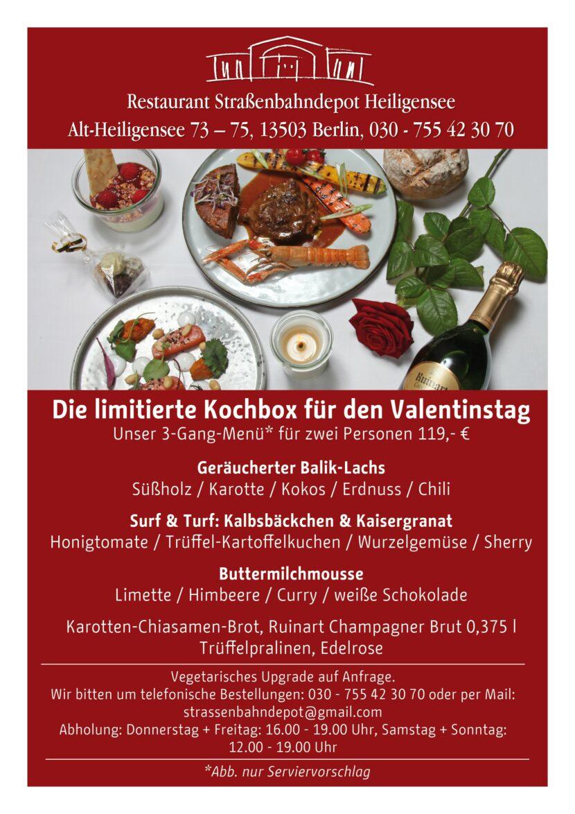 Valentinskochbox im Sraßenbahndepot bestellen